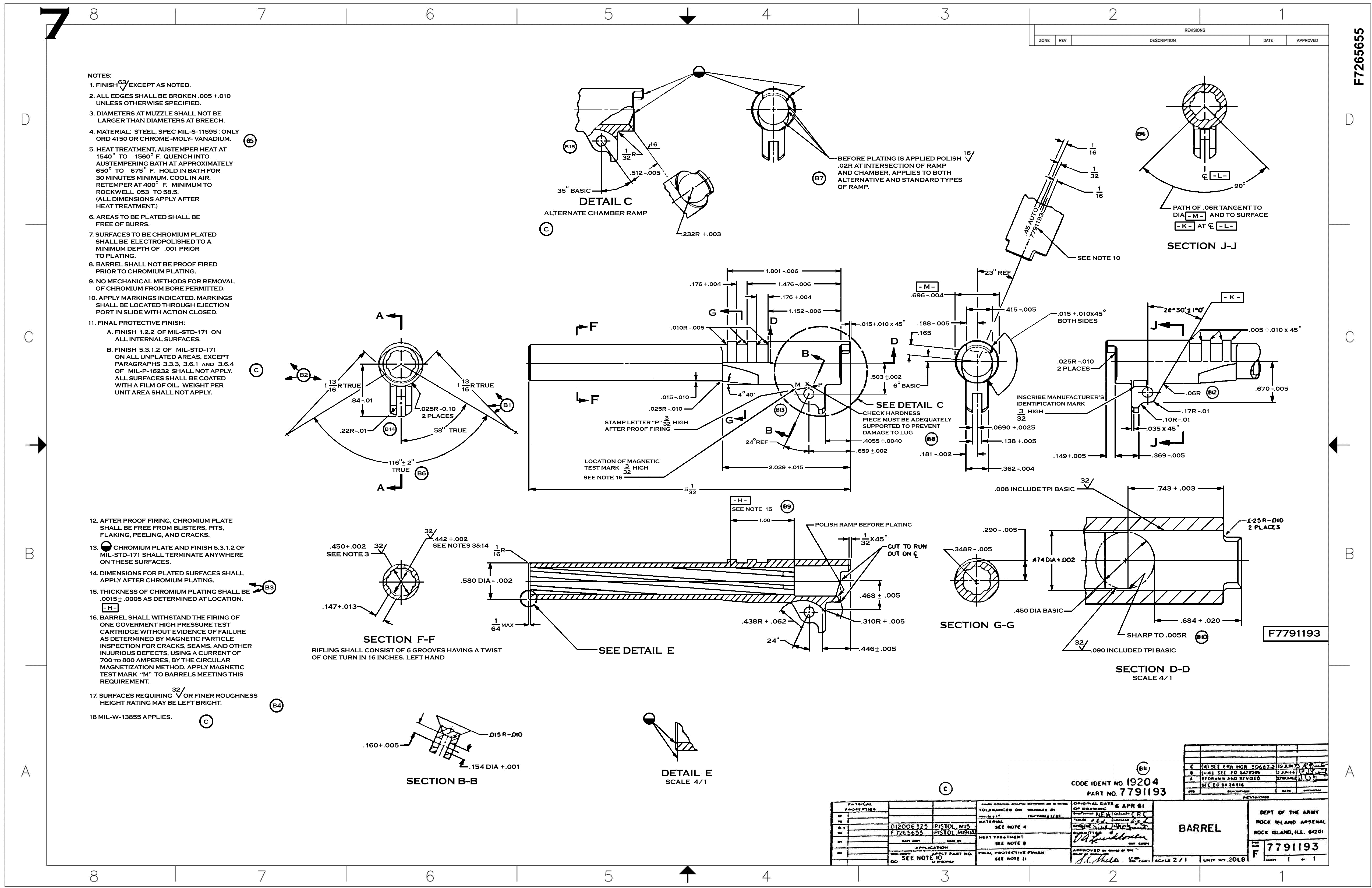 1911 technical drawings 1911 barrel malvernweather Choice Image