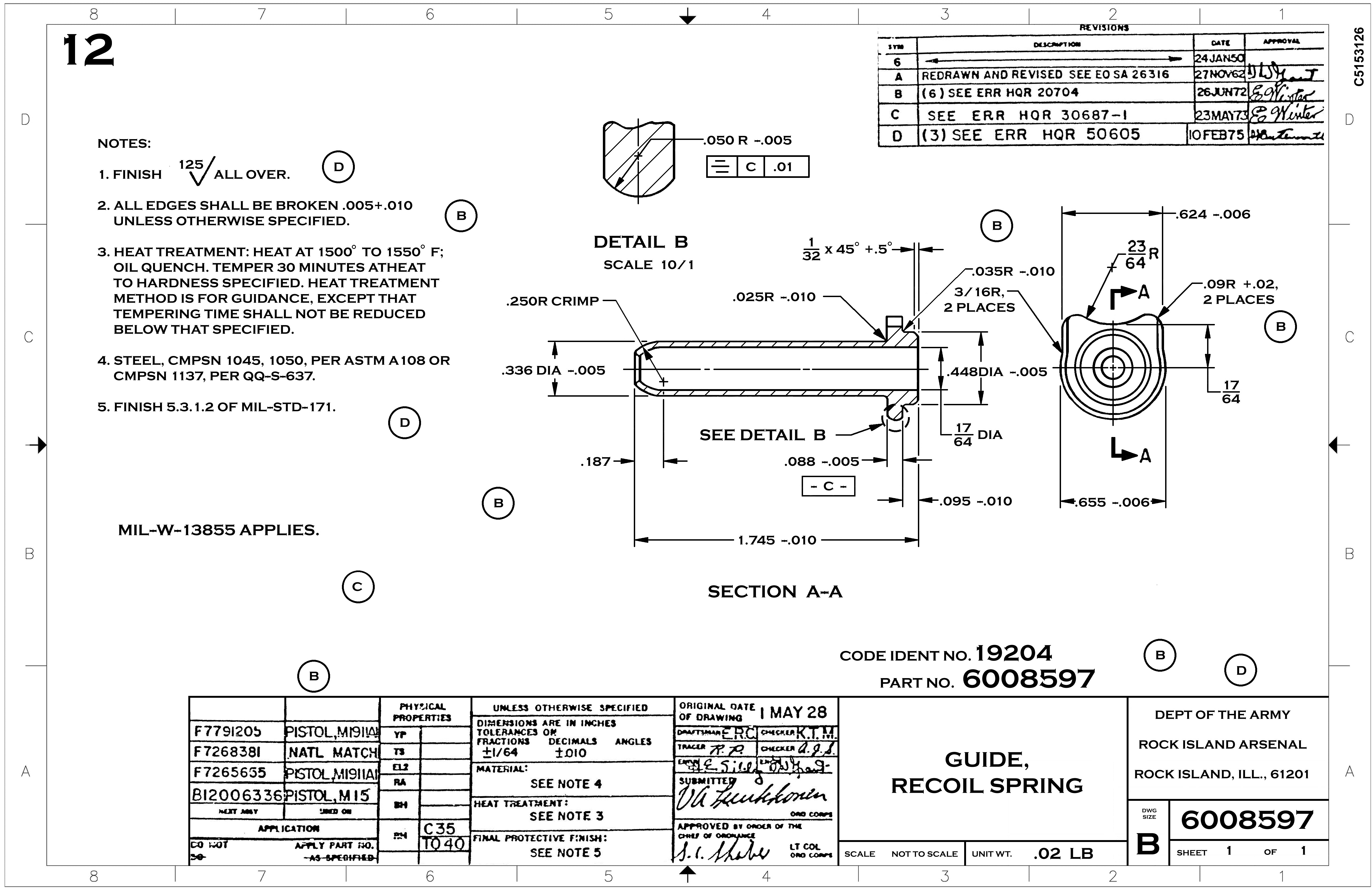 1911 Receiver Schematic Design Everything About Wiring Diagram Kimber Parts Technical Drawings Rh Gunsmithinfo Com Exploded Schematics And Lists
