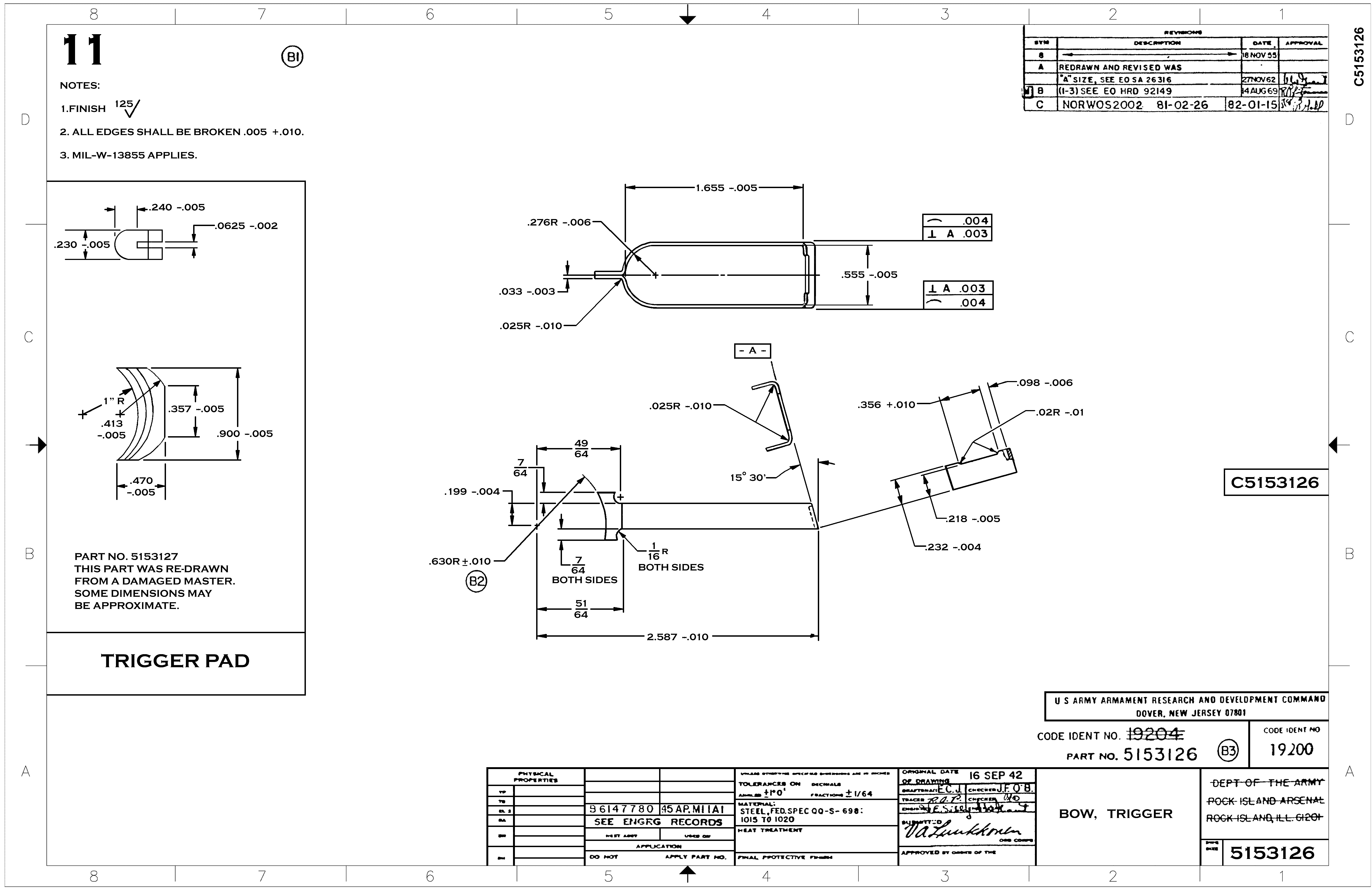 1911 Technical Drawings