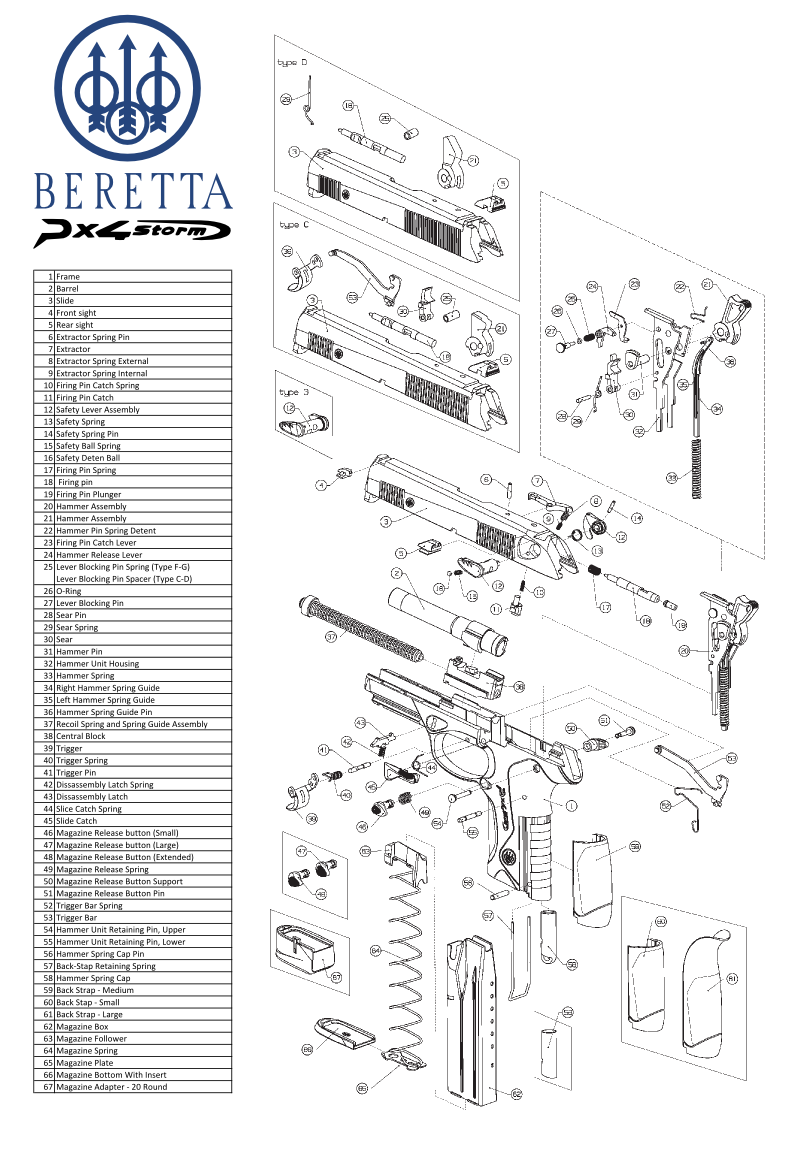 Beretta Px4 Exploded View Diagram Click On The Picture Below For A Much  Larger View Of The Drawing